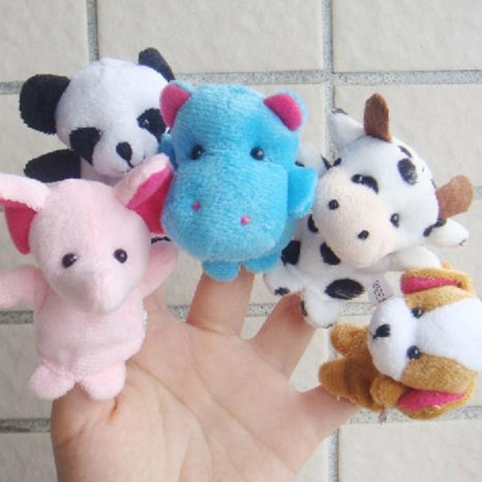 Jual Mainan boneka jari tangan binatang isi 10 pcs fingerhand puppet ... 838433c484