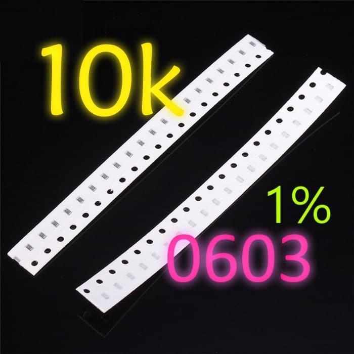 Foto Produk SMD 10K Ω Resistor 0603 1608 1% SMT 10KOhm dari LisuInstrument