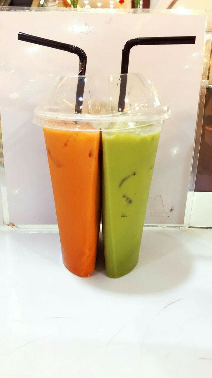Jual Gelas Kembar Twin Cup 2 Rasa Thai Tea Jus Kopi Plastik Tenteng Kantong Minum Harga Rp 3700