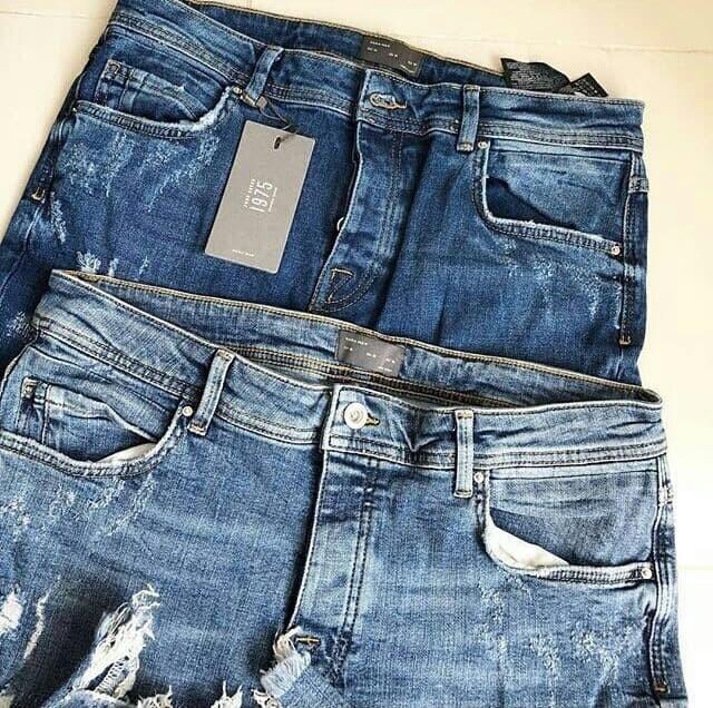 ce95bf6a TERLARIS Celana Ripped Jeans Skinny Zara Man Carrot Fit Authentic LIM