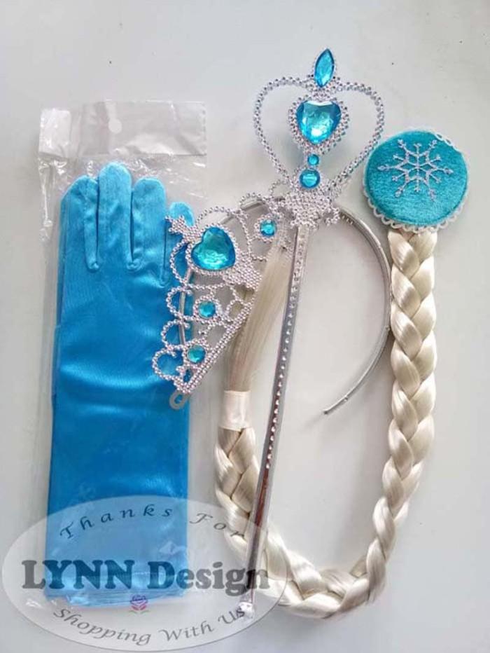 Foto Produk Aksesoris Mahkota Rambut Frozen/ Aksesoris Elsa Frozen 4 in 1 Elsa dari Lynn Design