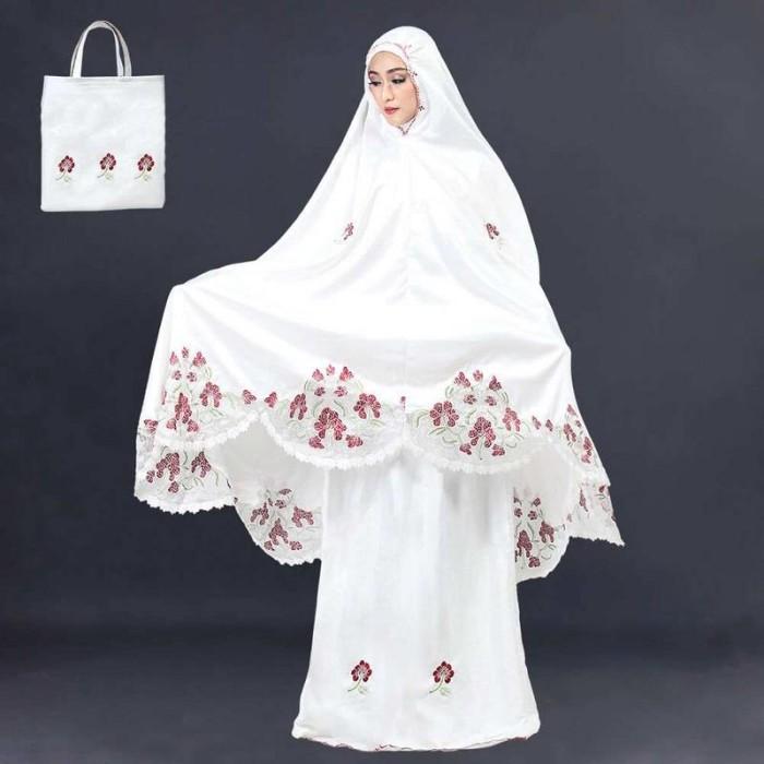 Mukena Wanita Cewek Cewe Dewasa Terbaru Warna Putih SKL 899 IL
