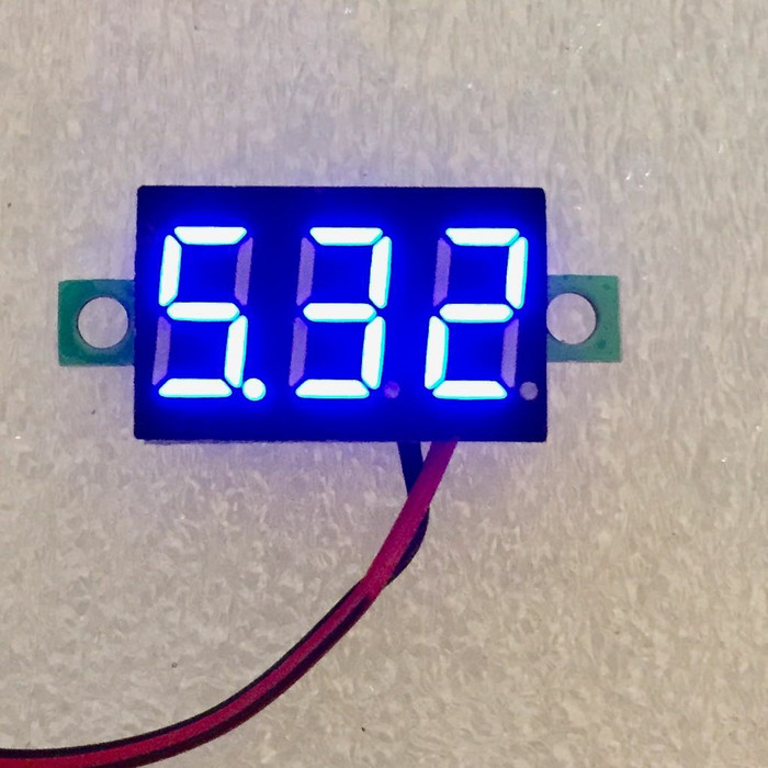 harga Mini digital voltmeter 0.28 inchi led biru 2.5v-30v dc Tokopedia.com
