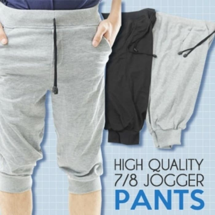 Foto Produk Celana Jogger Pants 3/4 Polos Murah Babyterry Gym Fitness dari LUCKY SPORTS