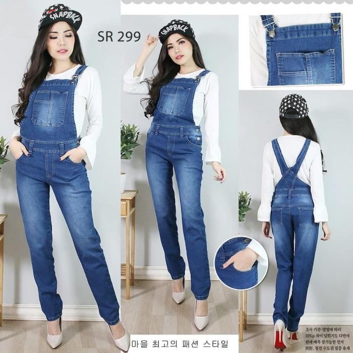 Jual Jumpsuit Celana Kodok Panjang Premium Jeans Setelan Hijab