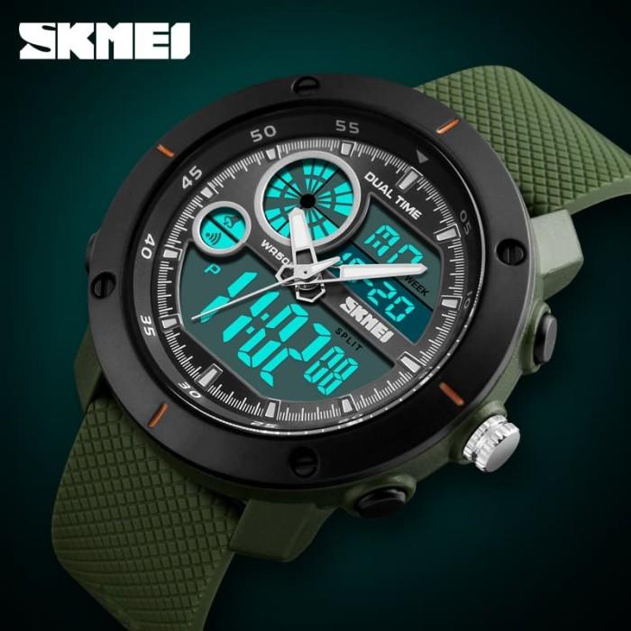Jual Jam Tangan Pria Dual Time Skmei 1361 Sport Original Anti Air ... 5f5bf4f189