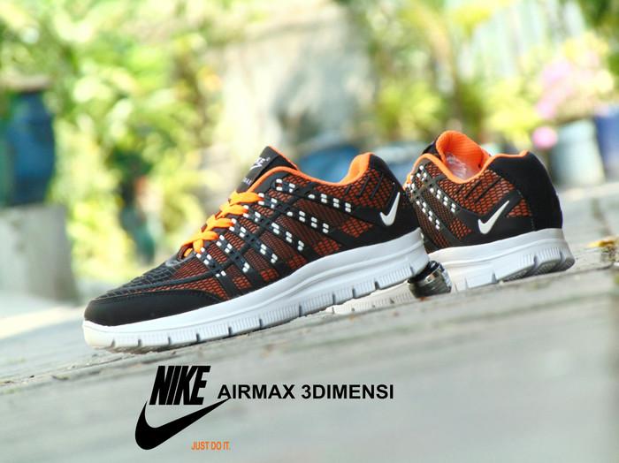 harga Sepatu nike airmax 3d skin - hitam orange sport casual pria wanita  Tokopedia.com 4480d2a31f