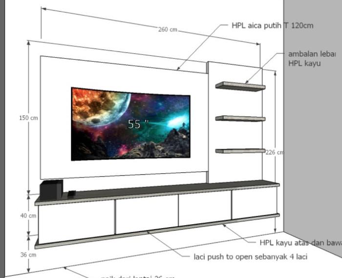 harga Backdrop dan laci tv cibinong Tokopedia.com