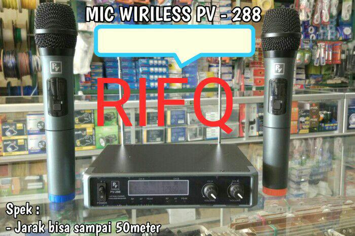 harga Peavey pv 288 / pv288 mic wireless uhf utk audio,karaoke,speaker Tokopedia.com