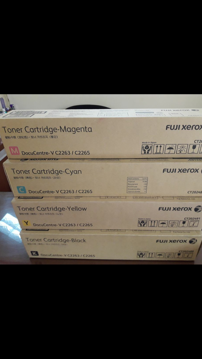 Jual Toner Cartridge Fuji xerox docuCenter V 2263/2265 [B M Y C]Original -  Jakarta Selatan - adelio cartridge printer | Tokopedia