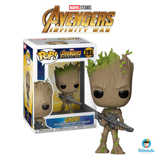 harga Funko POP! Marvel Avengers Infinity War - Groot with Gun #293 Tokopedia.com