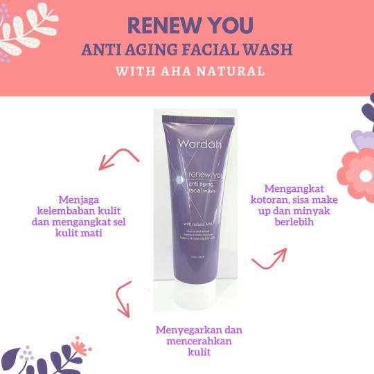 Anti aging facial wash