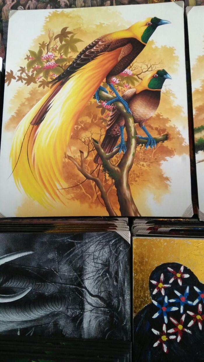 Jual Lukisan Dekorasi Burung Cendrawasih Kab Gianyar Jendela Ubud Painting
