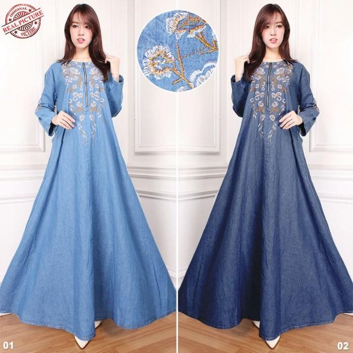 Spesifikasi Harga SB Collection Celana Panjang Rok Kulot Jumbo Jeans Source · Maxi dress gamis nakilla longdress jeans jumbo wanita