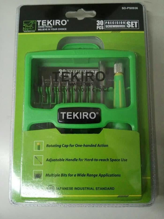 harga Obeng tekiro set 30 in 1 - obeng buka hp - obeng buka laptop Tokopedia.com
