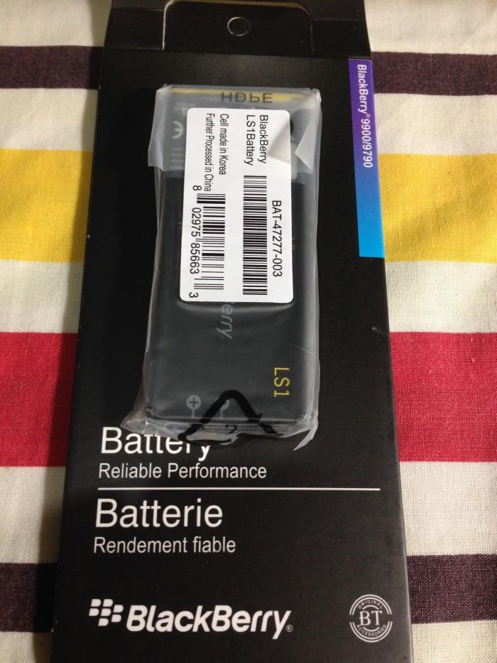 Baterai BB Blackberry Z10 LS1 1800Mah Original packing kertas new
