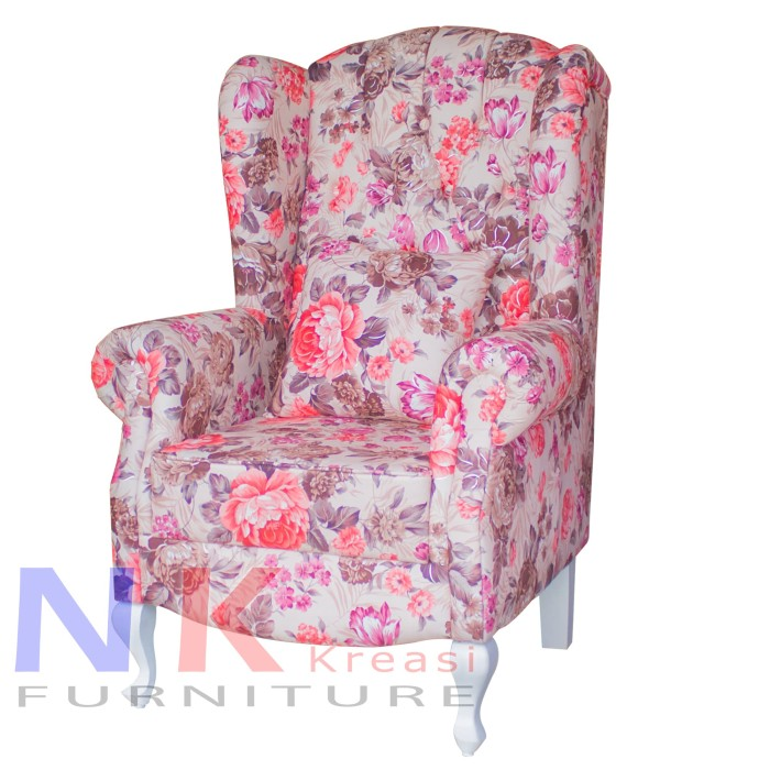 harga Sofa wingchair klasik kursi sofa wing chair single seater minimalis Tokopedia.com