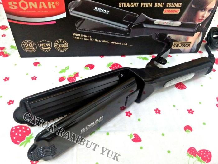 catokan sonar sn-8098 gerigi hair iron ceramic