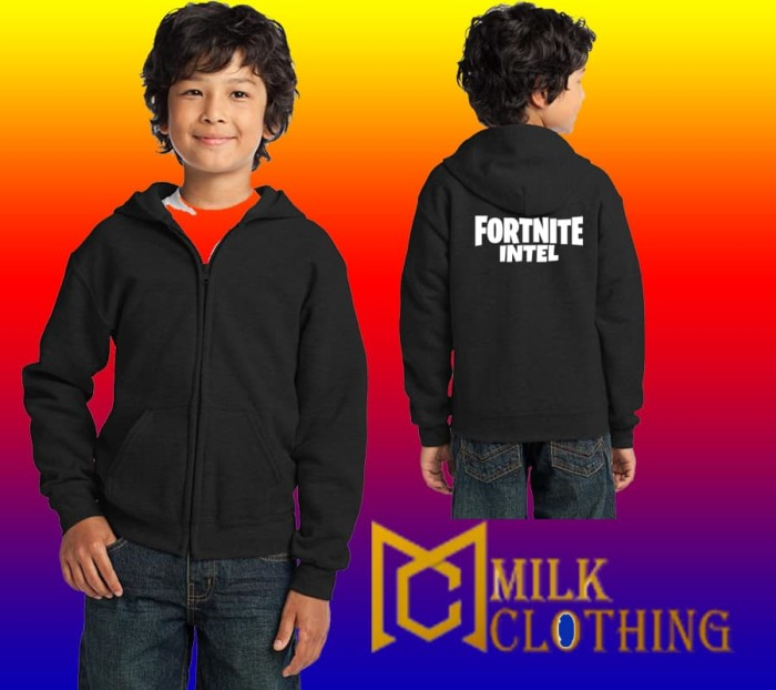Jual Hoodie Zipper Anak Anak Fortnite Intel Milk Clothing Kota Bandung Milk Clothing Tokopedia