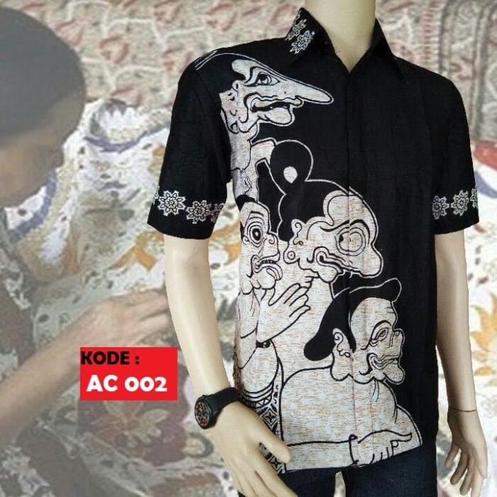 harga Kemeja hem baju batik pria wayang kulit asli pekalongan Tokopedia.com