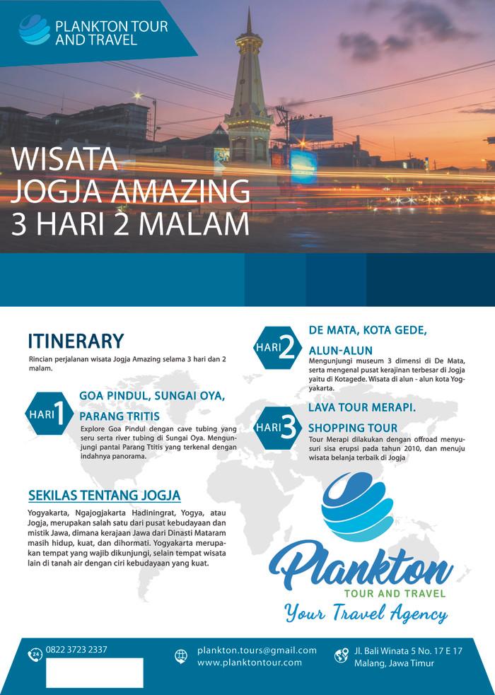 Jual Wisata Jogja 3 Hari 2 Malam Kab Malang Plankton Tour Tokopedia