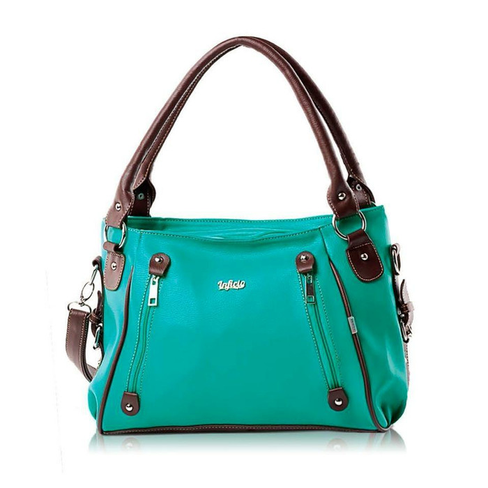 ... harga Tas handbag kasual wanita inficlo warna hijau tosca Tokopedia.com 655798764f