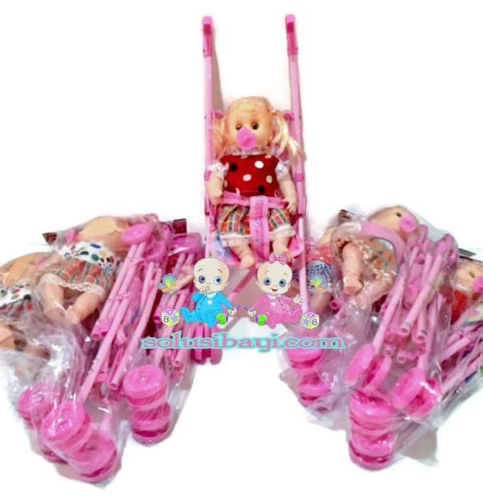 harga Mainan anak perempuan boneka bayi stoller bisa nangis Tokopedia.com a2c385f5f0