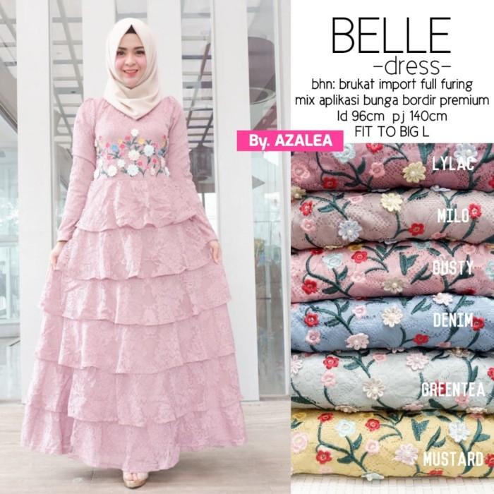 harga Az- belle dress brukat / long dress brokat / maxi dress brukat Tokopedia.com