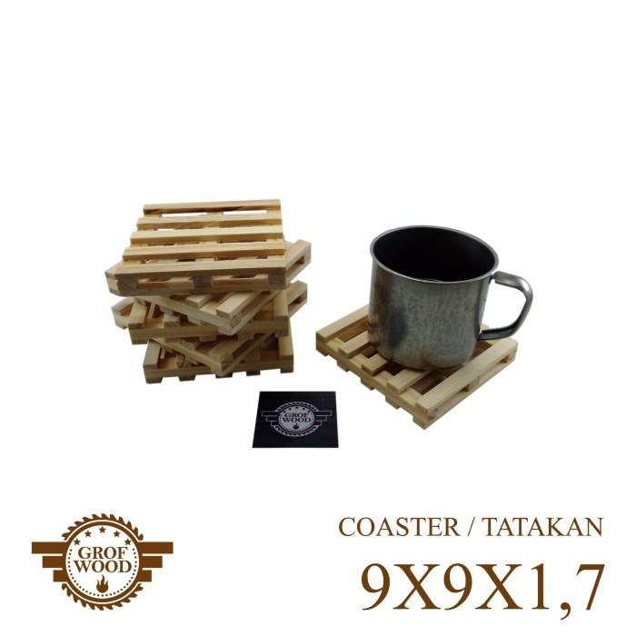 harga Enam pcs tatakan kayu 9x9x1.7 palet mini coaster pallete pallet Tokopedia.com