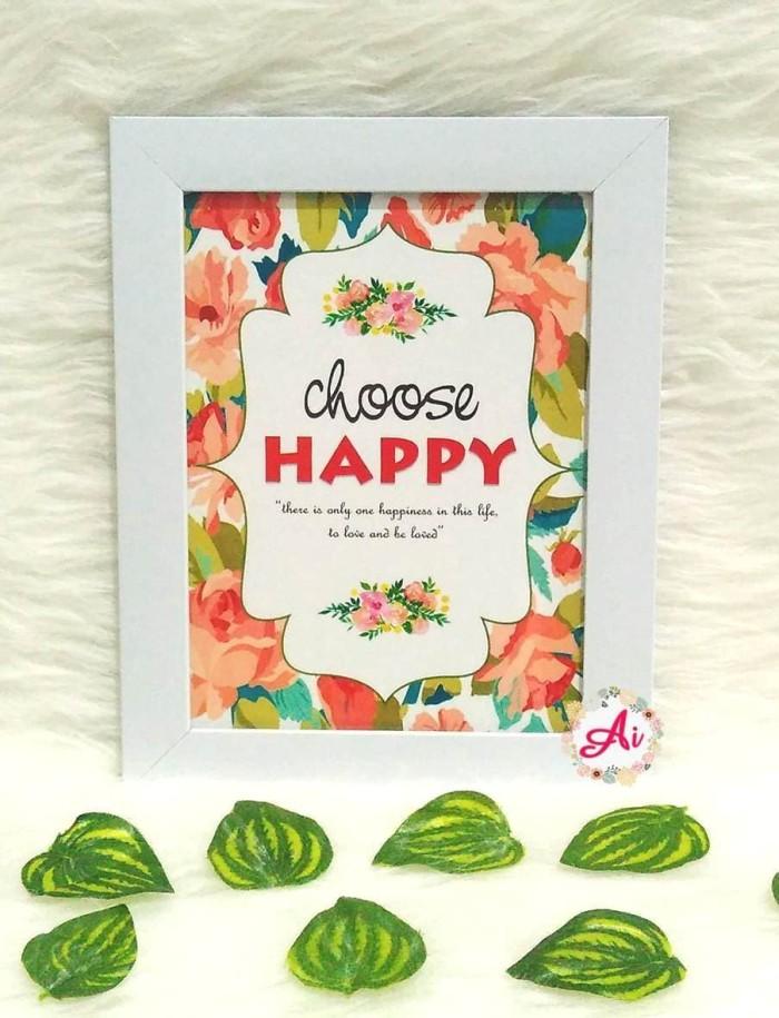 harga Poster / pajangan / wall decor shabby: choose happy 3 Tokopedia.com