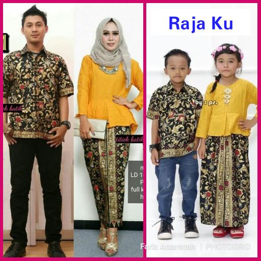 Jual Baju Batik Keluarga Sarimbit Rajaku Seragam Pesta Hijab Muslim