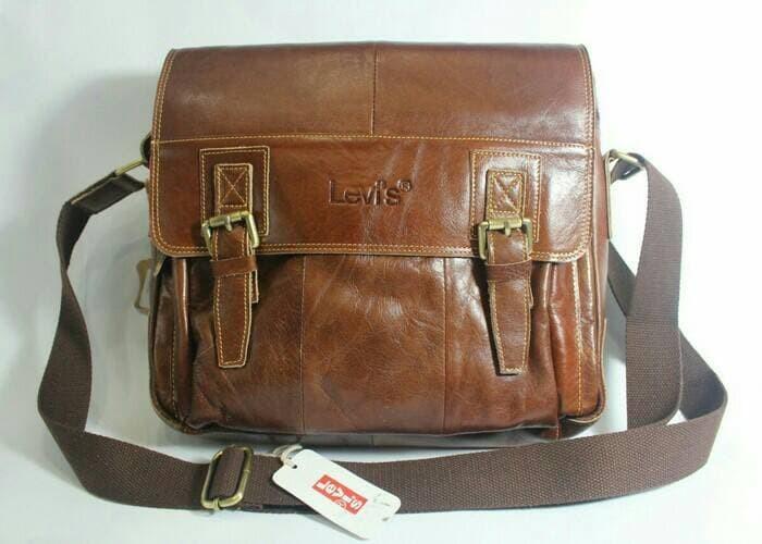 Jual tas kantor tas slempang tas kerja pria dan wanita kulit asli ... ff2c104aed