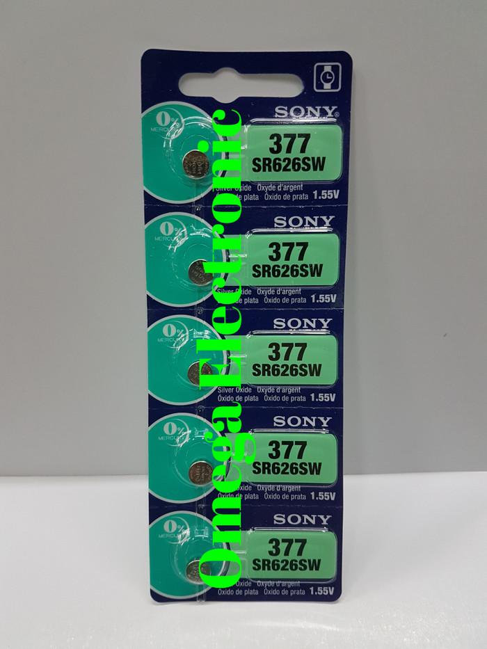 Foto Produk ORIGINAL Baterai Sony SR626SW 377 Battery Batre Jam Tangan LR626 626 dari Omega Electronic