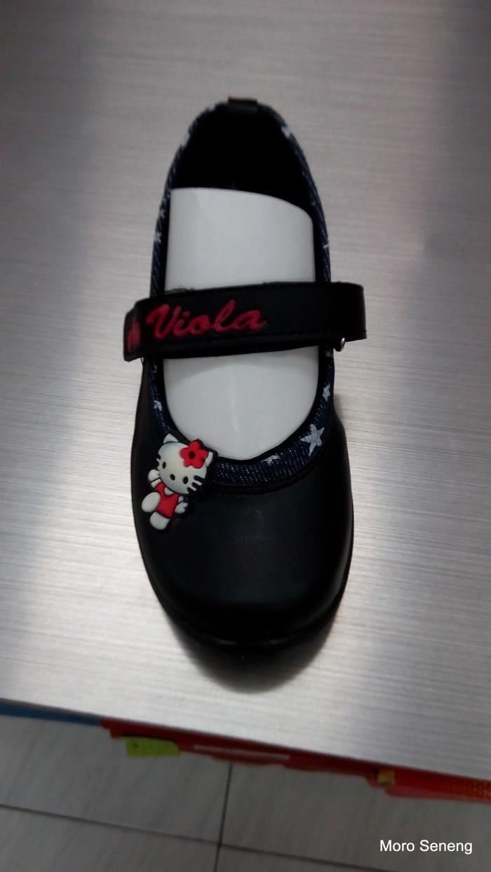 harga Sepatu pantofel anak perempuan tk hitam hello kitty viola v10 a2039 Tokopedia.com