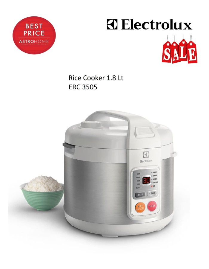 harga Rice cooker 18 l electrolux erc 3505 / erc3505 Tokopedia.com