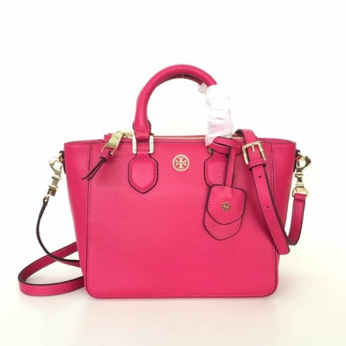 9d63e0be600 Jual Tory Burch Robinson Pebbled Square Tote - Different Bar