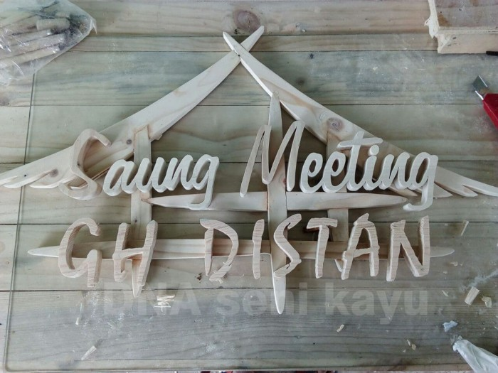 Huruf kayu di bintaro residence
