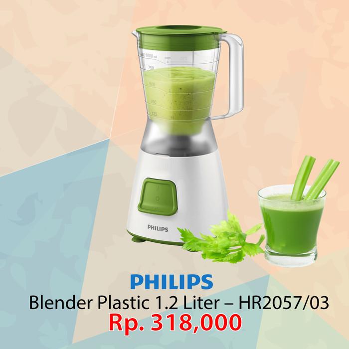 harga Philips blender plastic 1.2 liter 280 watt green hr2057 Tokopedia.com