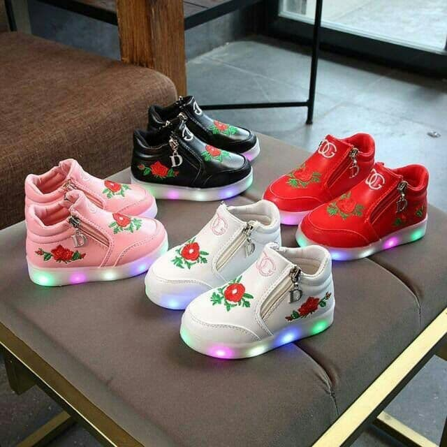 Jual Sepatu Anak Flower Gucci Import Murah Lampu LED - Elnando Shop ... 62329b46f6