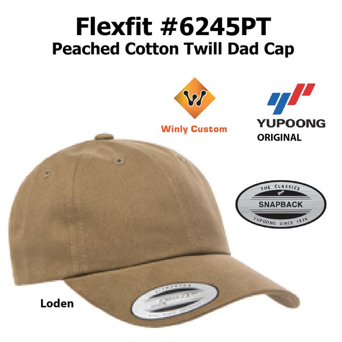 Jual Topi Yupoong Flexfit Peached Cotton Twill Dad Cap 6245PT ... ea11488625