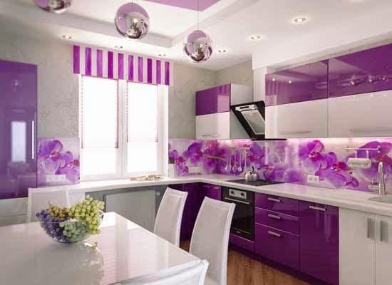 Rumah Minimalis Lantai 2 Nuansa Ungu  jual kitchen set nuansa ungu jakarta barat cukizu furniture tokopedia