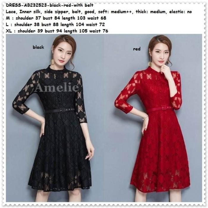 harga Party mini dress gaun pesta brukat korea import ab232523 red black Tokopedia.com