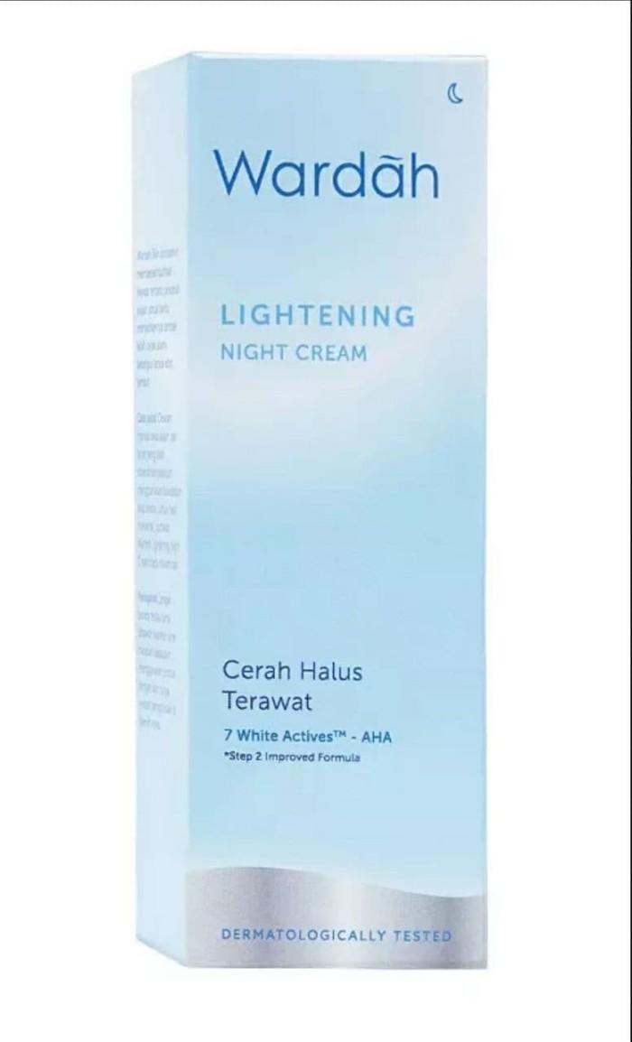 Jual Wardah Lightening Night Cream Step 2 20 Ml Qq Id Tokopedia Paket Kosmestik Series