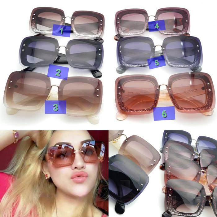 Foto Produk Kacamata cewek sunglasses cewek Kacamata miu miu gliter dari Cahaya optik
