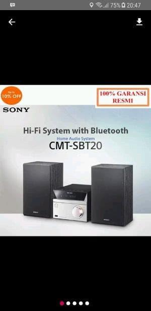 harga Sony micro hifi cmt sbt20 murah Tokopedia.com