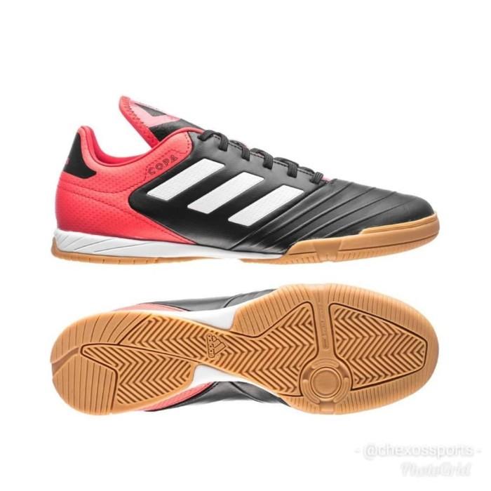 best sneakers df928 32712 Sepatu Futsal Adidas Copa Tango 18.3 Leather Black Red CP9017