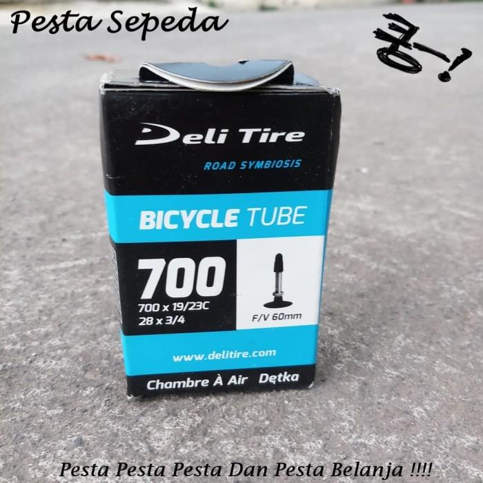harga Ban dalam deli tire 700x19/23 dan 28x3/4 fv 60mm pentil presta Tokopedia.com