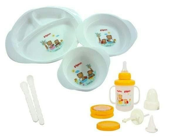 Pigeon feeding set besar / pigeon feeding set with training cup