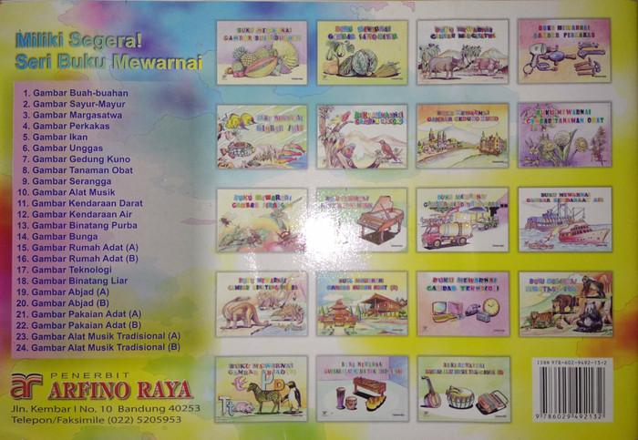 Jual Buku Mewarnai Gambar Bunga Makmur Jaya Arfino Raya Original