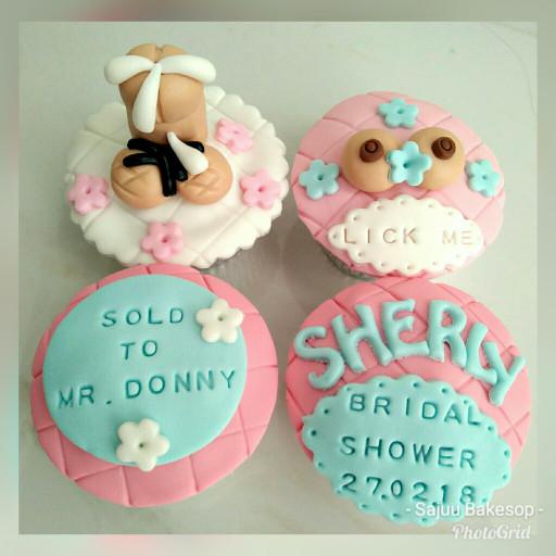 harga Cupcake bridal shower kue hias 4pc Tokopedia.com